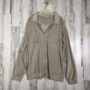 Vintage Velour Zip Up Track Jacket XL
